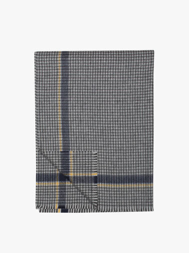 Philby Lambswool Checked Scarf