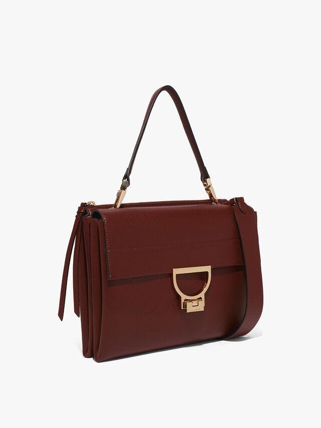 Arlettis Leather Top Handle Bag