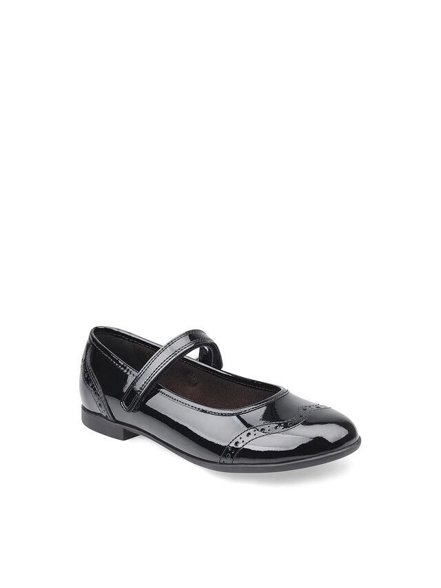 Impress Black Patent School Shoes