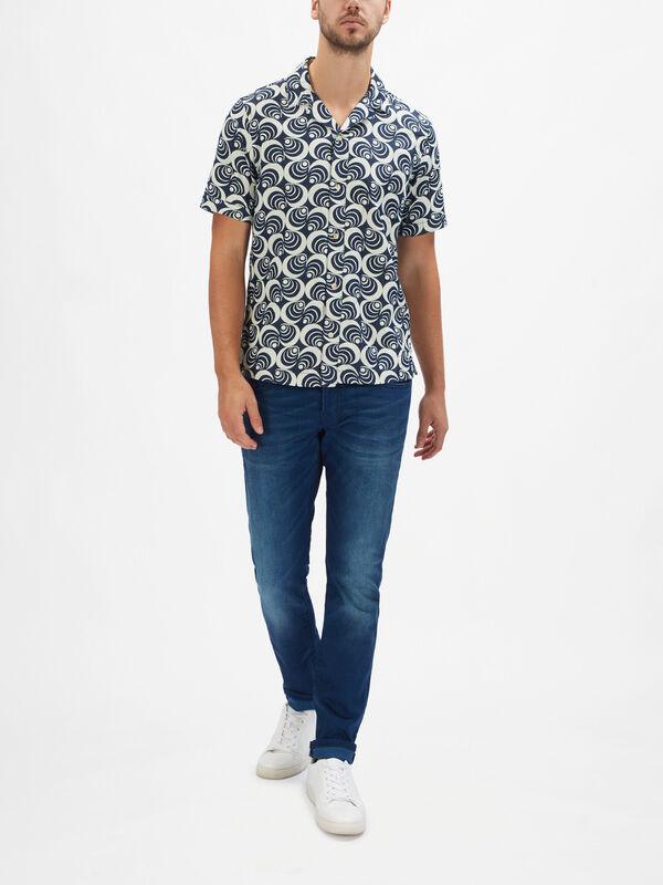 Short Sleeve Denim Island Shirt