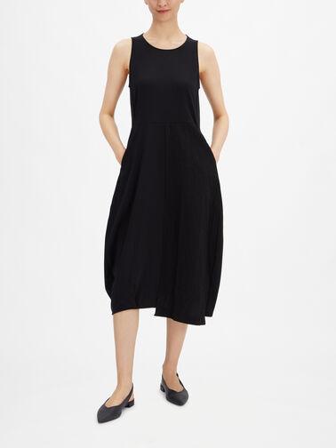 Slvl-Fit-Flare-Jersey-Lantern-Midi-Dress-Barolo