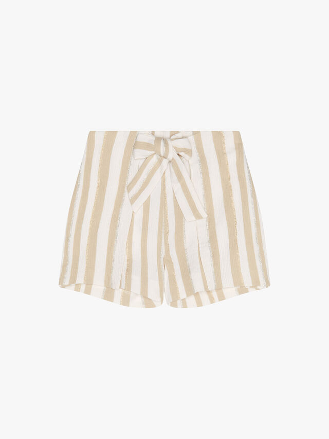 Stripe Shorts with Bow