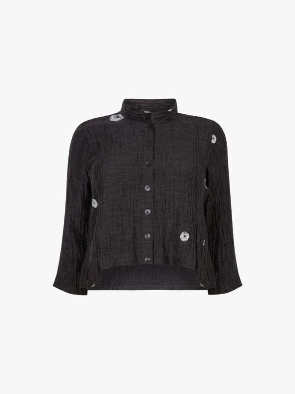 Circle Text Pocket Jacket