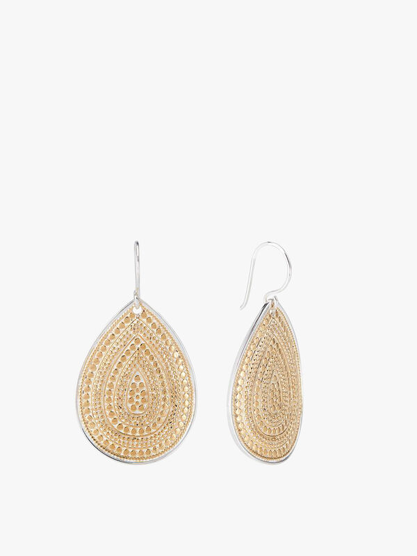Large Beaded Teardrop Earrings