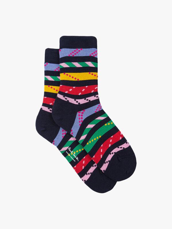 Rope Polka Dot Stripe Sock