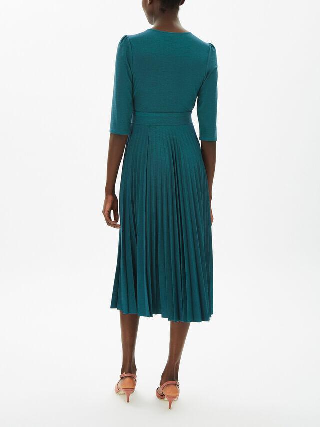 Adesso Belted Lurex Jersey Dress