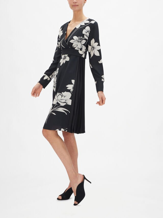 Bonito Printed Dress with Pleat Detail