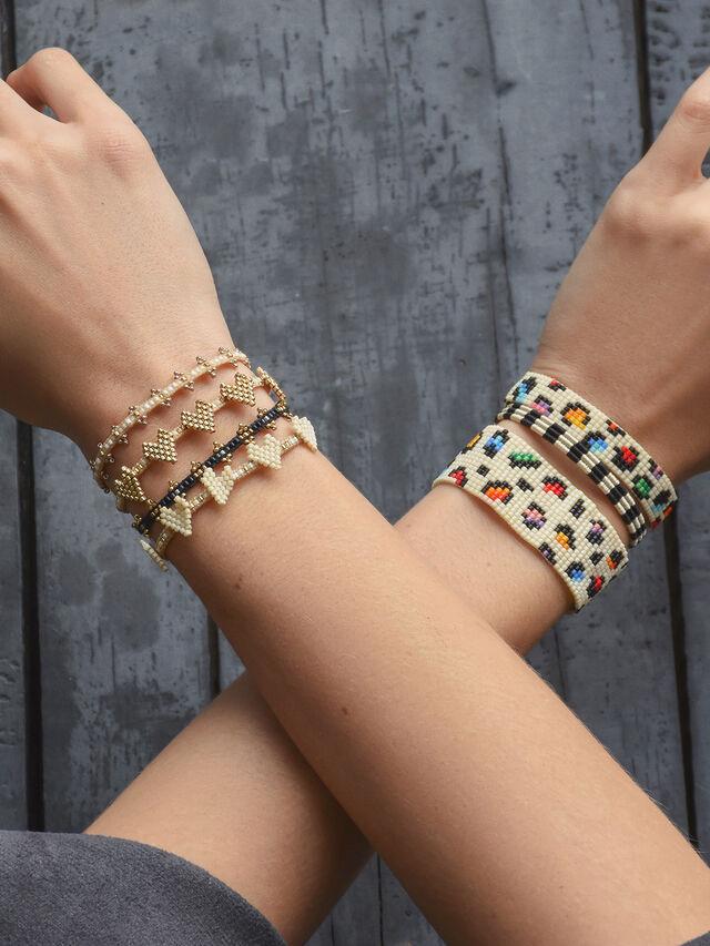 Multi Heart Row Beaded Bracelet