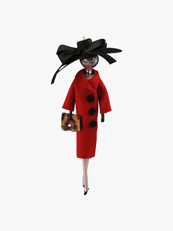Lady in Big Button Coat