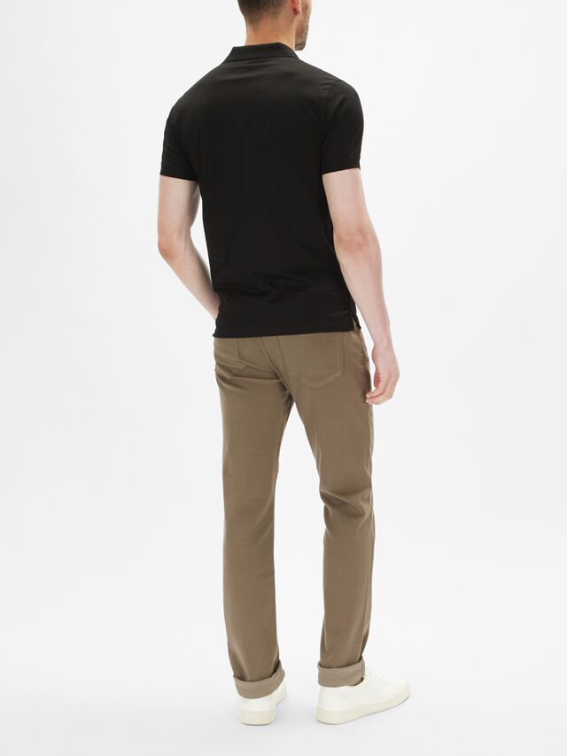 Short Sleeve Emoji Slim Polo Shirt
