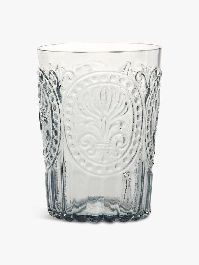 Large Fleur de Lys Glass