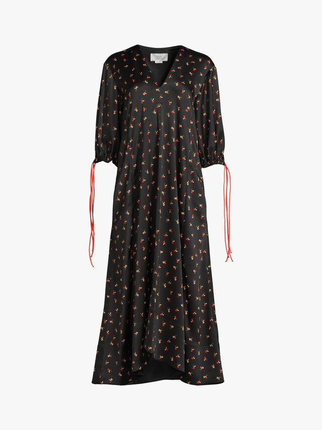 Puff Sleeve Maxi Dress