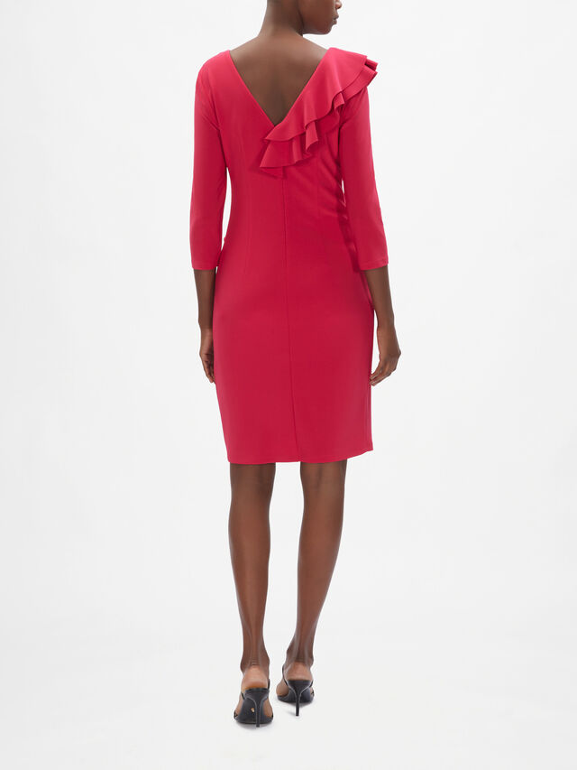 Ruffle 3/4 Sleeve Dress