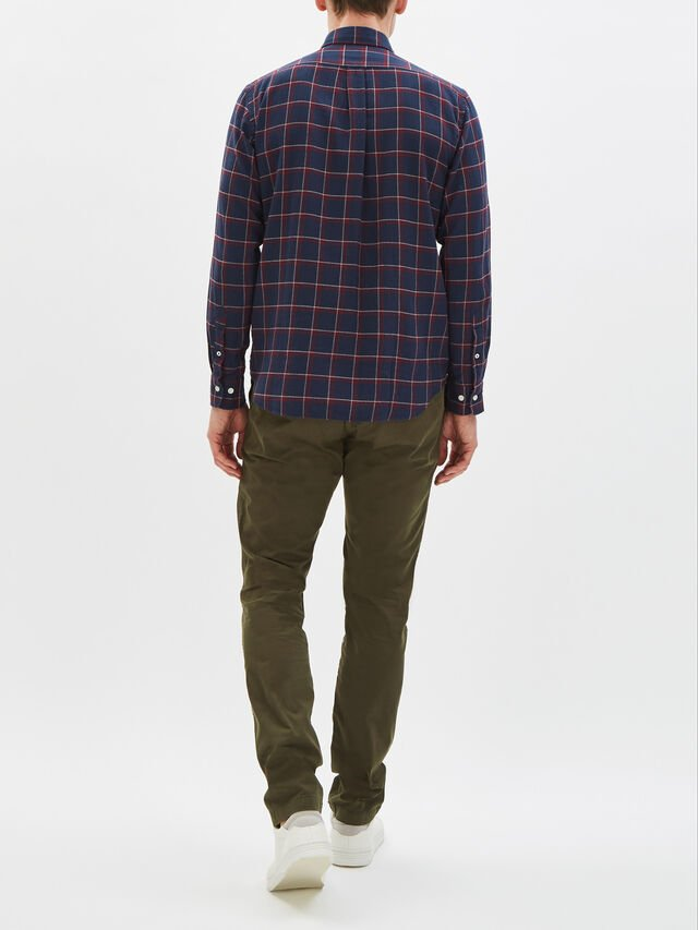 Pow Herringbone Plaid Shirt