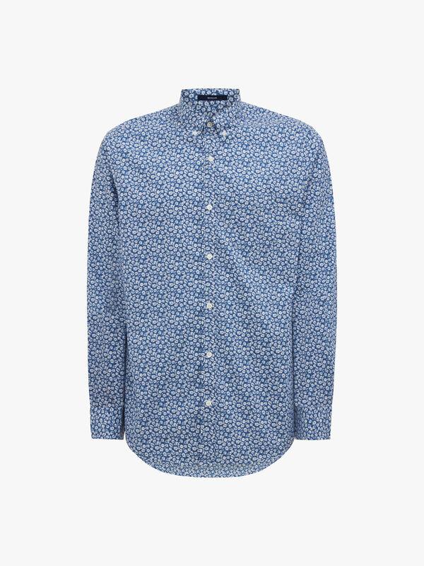Micro Floral Print Shirt