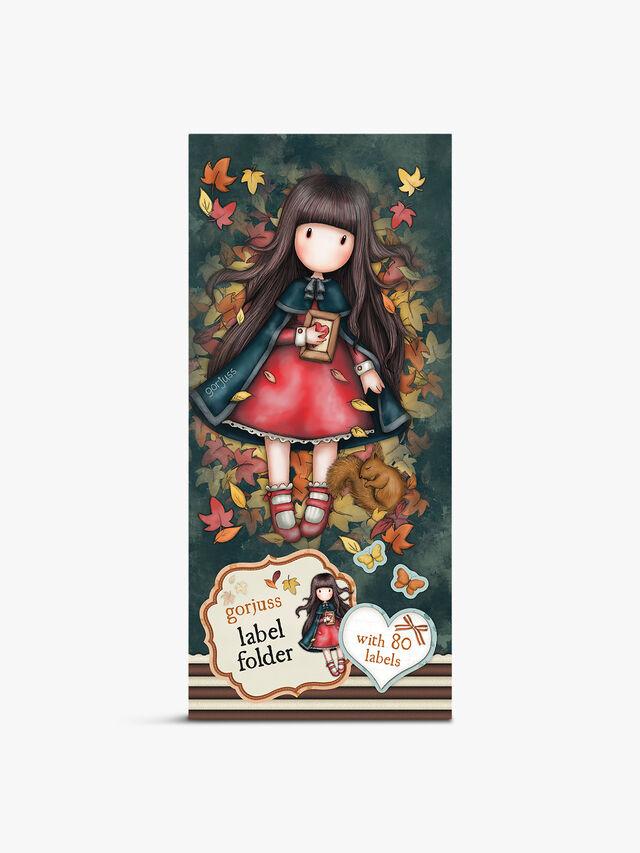 Gorjuss Label Folder Autumn Leaves
