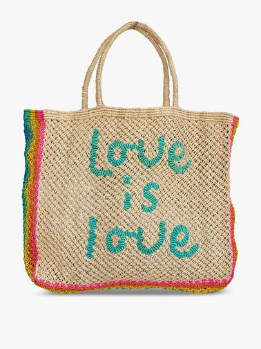 Love is Love Jute Tote Bag