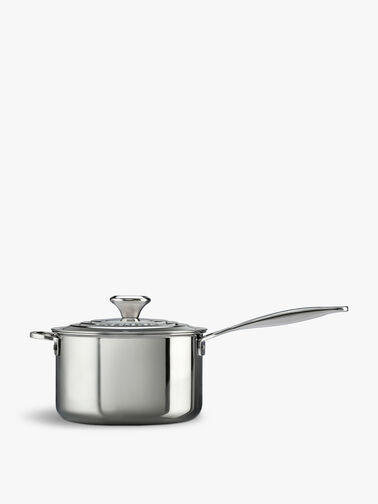 Signature Uncoated Saucepan With Lid 20cm