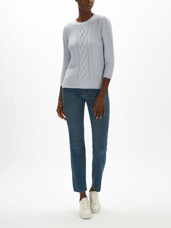 Tishari 3/4 Sleeve Sweater