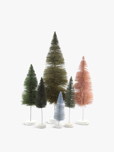 Rainbow Trees Set of 6 Green