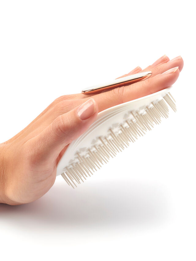 The Manta Hairbrush White
