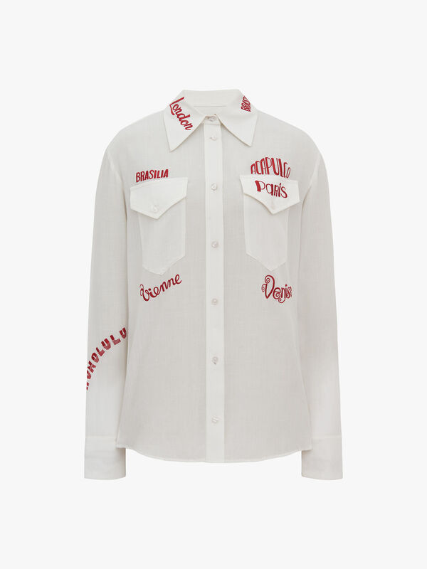 City Embroidered Shirt