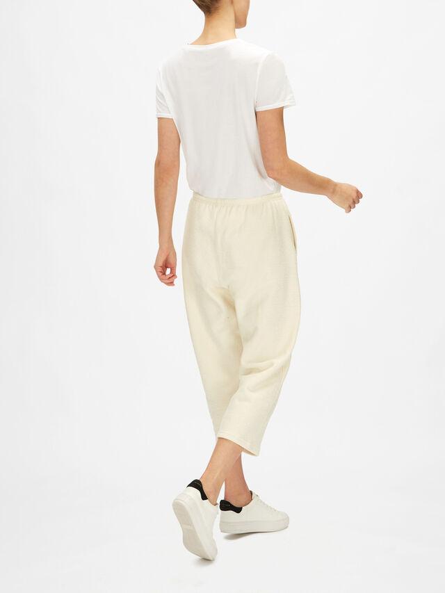 Wide Leg Cropped Sweat Pant