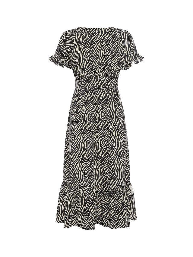 Geriel Zebra V-Neck Tea Dress