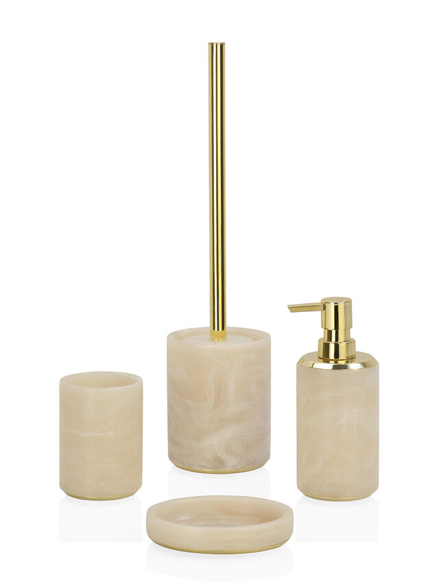 Cloudy Gold Toothbrush Holder