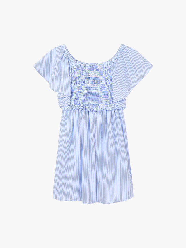 Stripe Ruched Top Dress