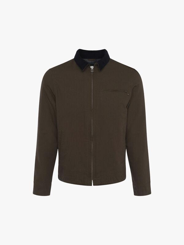 Utility Cotton Canvas Zip Jacket