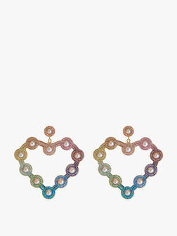 Rainbow Love Heart Earrings