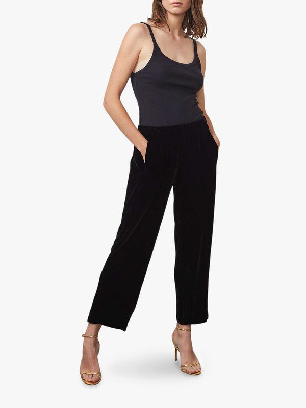 Silk Velvet Trouser