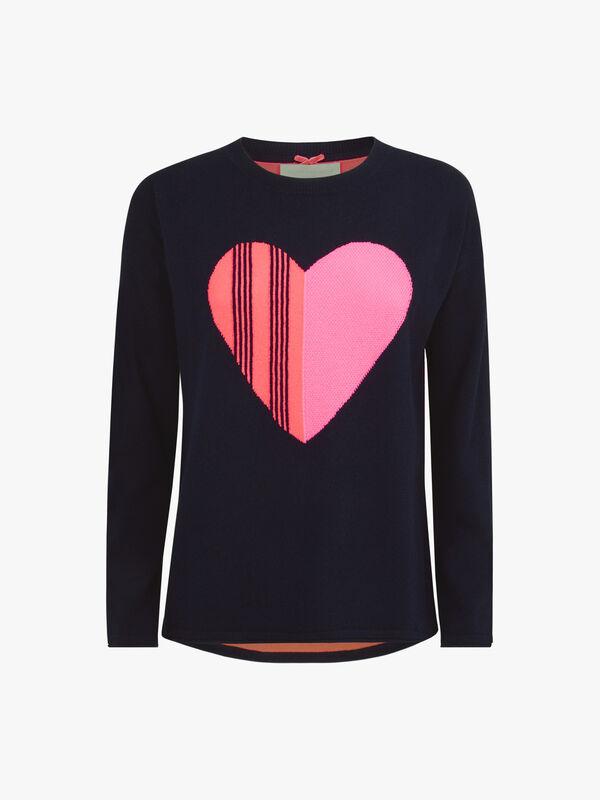 Love Heart Crew Neck Knit