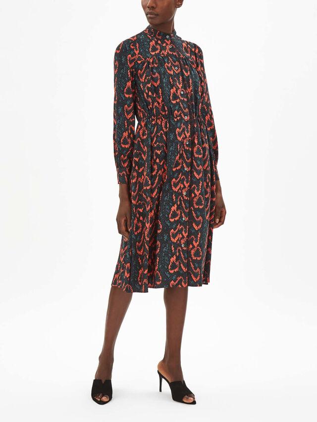 Python Lace Trim Dress