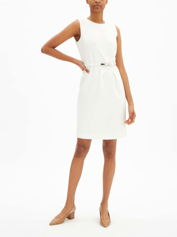 Azra Sleevless Dress With Belt