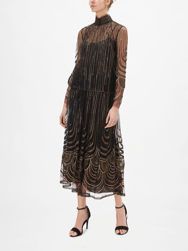 Fringed Embroidery Top