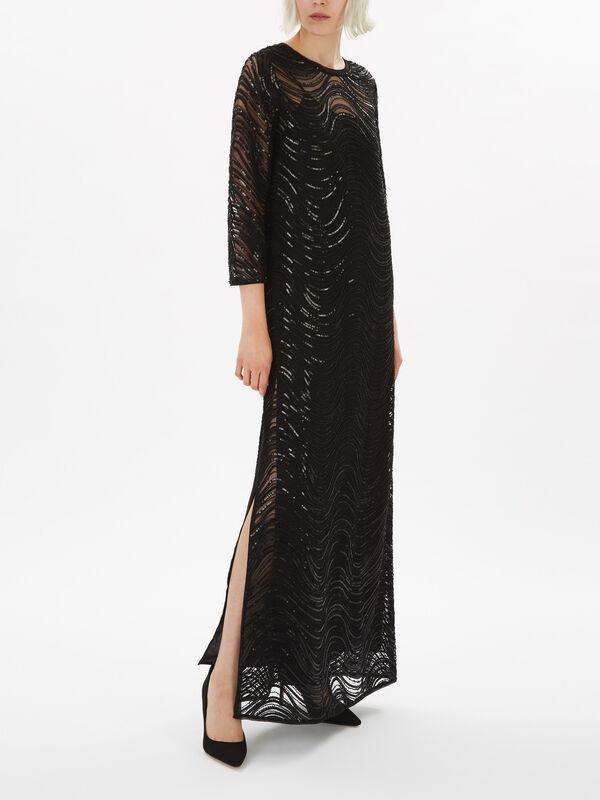 Floor Length Sequin Gown
