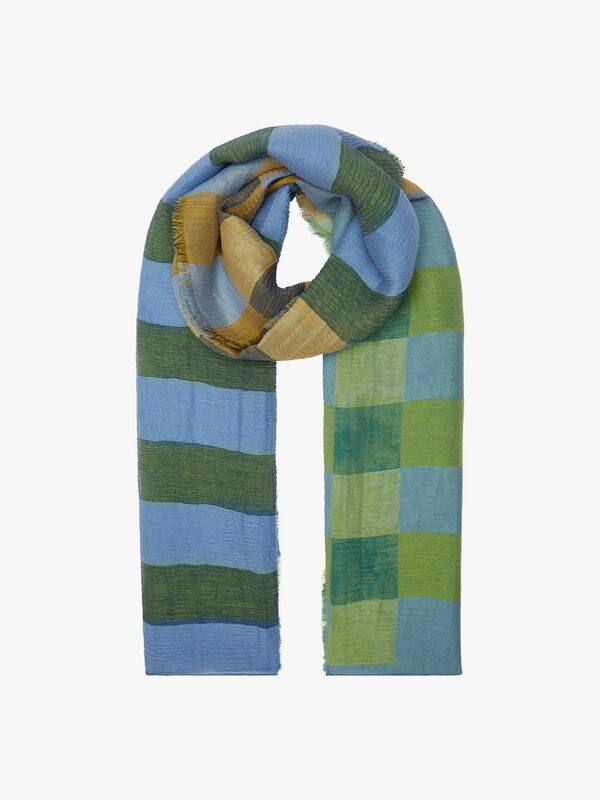 Stripe Check Scarf