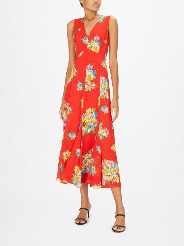 Norehan Riviera Floral Print Maxi Dress