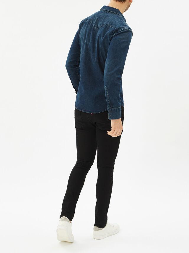 Barstow Western Slim Denim Shirt