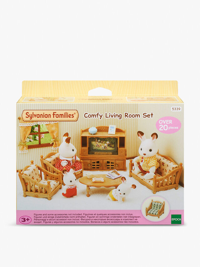 Sylvanian Families Comfy Living Room Set | Action Figures ...