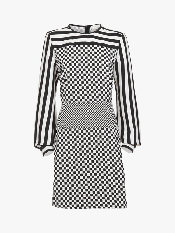 Tile Geo Print Combo Dress