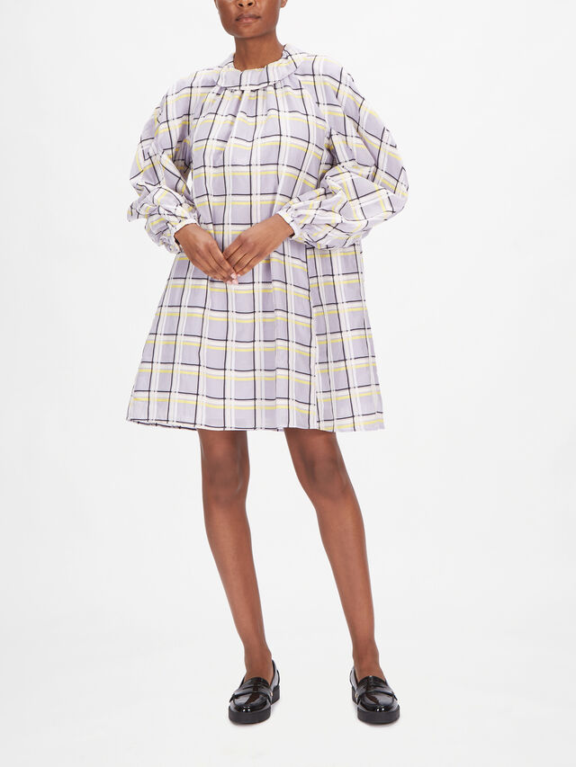 Samantha Checked Organza Short Dress