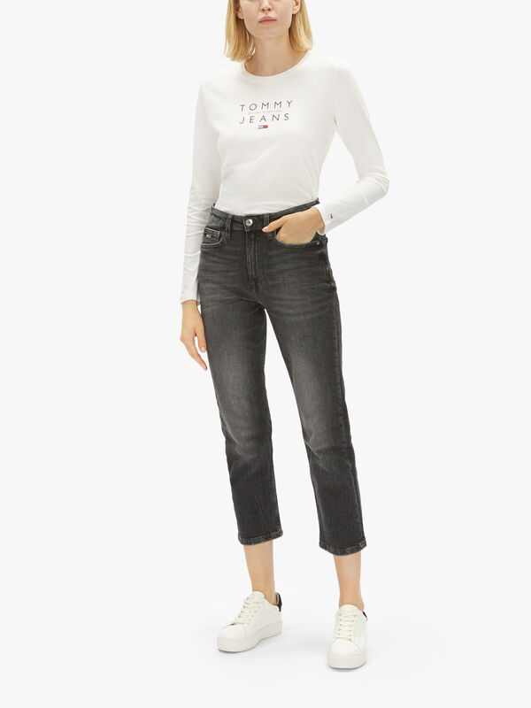 Harper High Rise Straight Ankle Jeans