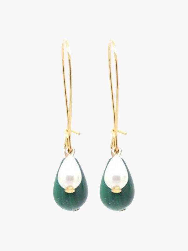 Malachite & Pearl 3-in-1 Earrings