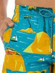 Moorea Yacht & Island Print Swim Shorts
