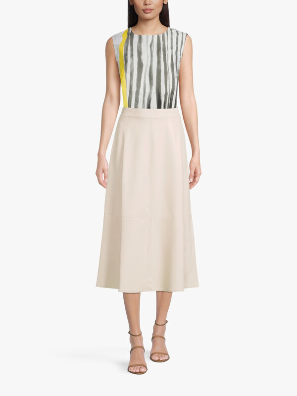 Omelia Faux Leather Midi Skirt