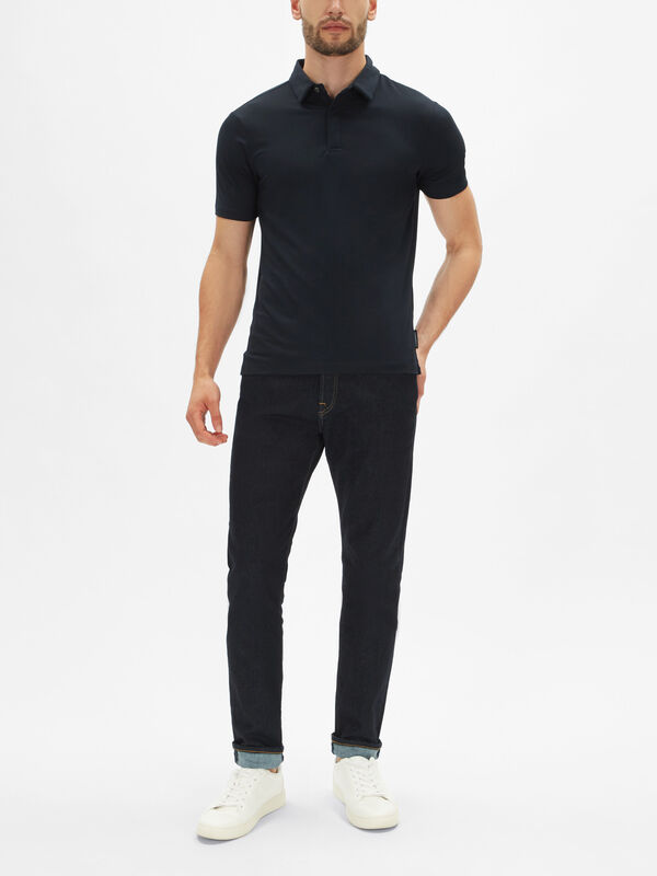 Mercerized Slim Polo Shirt