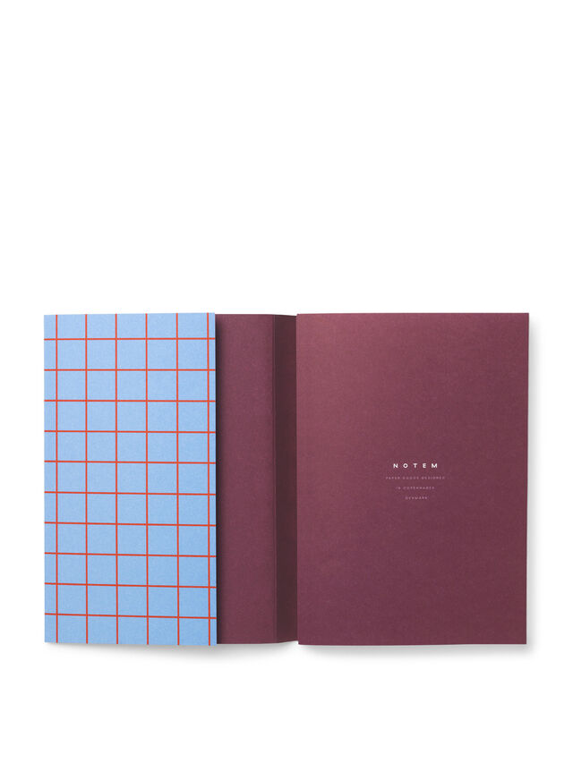 Uma Blue Grid Small Notebook Ruled Pages